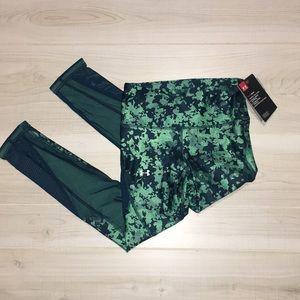Under Armour green capri compression pants